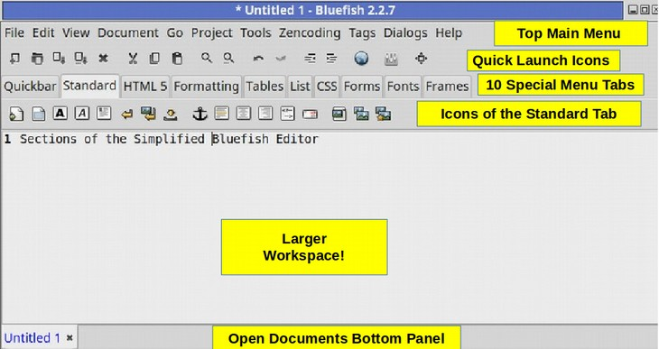 1 1 HTML Structure & the Bluefish Editor