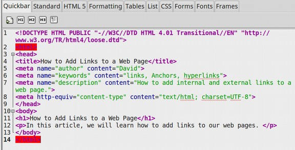2 1 How To Add Links To Your Web Pages
